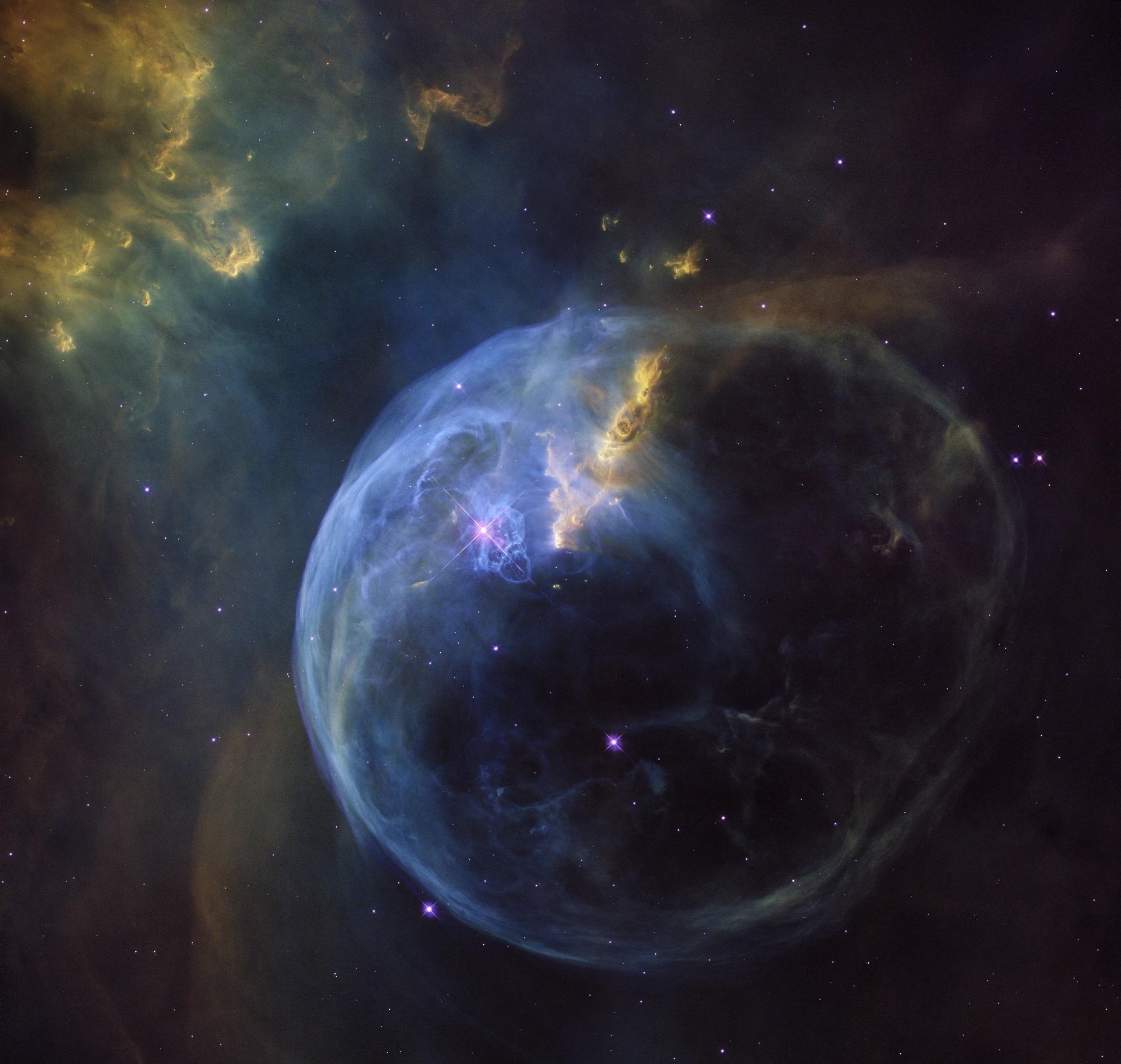 bubble nebula, space, ngc 7635